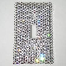 clear light switch cover luxury single light switch cover plate hand bedazzled with real