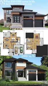 Modern House Floor Plan Plan 80840pm Multi Level Modern House Plan Modern House Plans