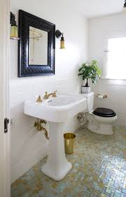 bathroom exquisite picture of gold and white bathroom decoration