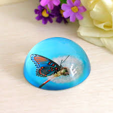 3inch 3d butterfly decorative glass paperweights glaze