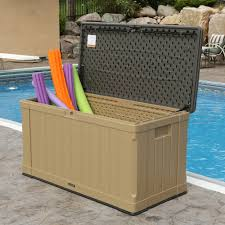 lifetime 116 gal outdoor storage box bj u0027s wholesale club