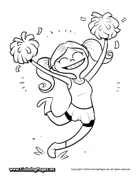 cheerleading coloring pages free printable coloring pages for
