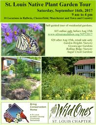 va native plant society 2017 st louis native plant garden tour bring conservation home