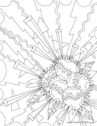 geometric explosion coloring page color pinterest