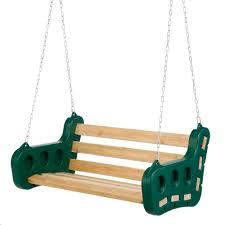 contoured leisure bench swing swingsetmall com