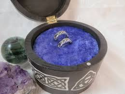 velvet foam ring insert for small box wedding ring bearer box