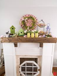 easter mantel decorations diy easter fireplac mantel decor