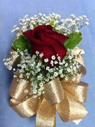 Red Rose Corsage Single Red Rose Corsage W Gold Ribbon Neighborhood Favorite Yelp