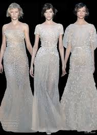 designer wedding dresses 2011 elie saab fall 2011 2012 couture ellie saab chagne colour
