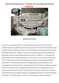 28 453 detroit diesel engine service manual 87826 453