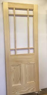30 Interior Door New Solid 9 Panel Pine Interior Door Solid Unfinished Unglazed 30
