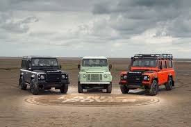 matchbox land rover defender 110 white land rover to send off defender with three limited edition models