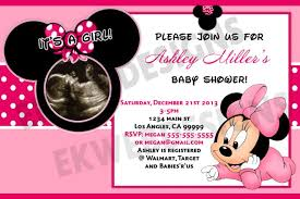cute minnie mouse baby shower invitations templates ideas u2014