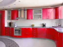 create incredible kitchen with red kitchen cabinet designoursign