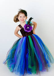Infant Peacock Halloween Costume Flower Tutu Dress Simply Elegant Thelittlepeaboutique