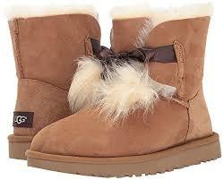 amazon com ugg australia youth selene boots in chestnut 2 us flats amazon com ugg s gita pom pom boot ankle bootie