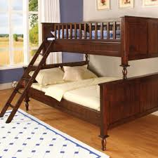 Bunk Beds  Queen Loft Bed Full Over Full Futon Wooden Futon Bunk - Wood bunk bed with futon