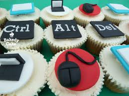it or computer themed cupcakes by bakedy cake they were the