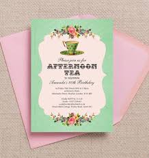 80th birthday invitations vintage afternoon tea themed 80th birthday party invitation from