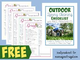 free printable outdoor spring cleaning checklist