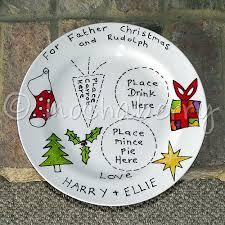 christmas plate santa and rudolph plates christmas plates