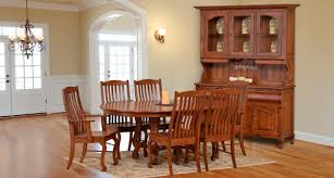 Handcrafted Amish Furniture Clear Creek Furniture Waynesville - Oak dining room sets with hutch