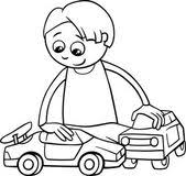 boy car cartoon coloring u2014 stock vector izakowski 56054435