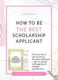 scholarship application letter applying for education