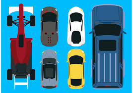 vehicle top view vector car aerial view pack download free vector art stock