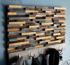 wood tile coat rack by shop makarios modern wood art coat rack