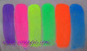 scrangie kryolan aquacolor uv day glow palette swatches face
