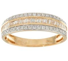 affinity diamond jewelry jewelry qvc com baguette round diamond band ring 14k 1 2 cttw by affinity j347755
