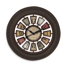 amazon com firstime manufactory industrial chic wall clock home