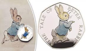 beatrix potter 50p coin peter rabbit 50p coin
