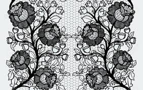 black lace ribbon wide seamless black lace ribbon with roses royalty free cliparts