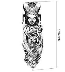 buddha hand tattoo aliexpress com buy 2016 new arrivals 45x15cm new waterproof