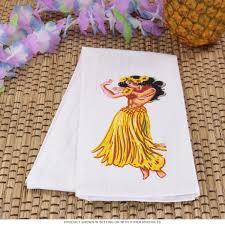 kitchen towel designs hawaiian hula flour sack dish towel hula hula and towels