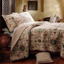 boho bedding bohemian comforters duvet covers  quilts with greenland home fashions esprit spice quilt collections from homedecoratingcompanycom