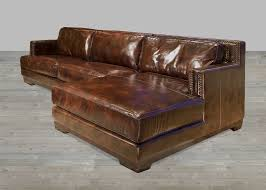 Modern Brown Leather Sofa Brown Leather Sectional Sofa With Chaise Nyfarms Info