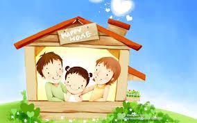 wallpaper cute house sweet cute illustration of family love 1280x800 no 6 desktop