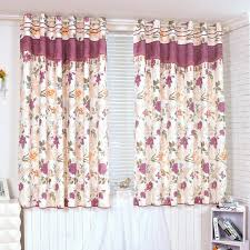 Plum Flower Curtains Country Flower Printed Lace Energy Saving Half Curtains Buy