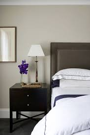 Dark Grey Nightstand Dark Gray Headboard Contemporary Bedroom Denai Kulcsar Interiors
