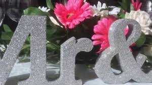 Mr And Mrs Sign For Wedding Handmade Mr U0026 Mrs Silver Glitter Wedding Letters Youtube