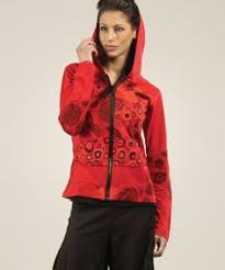 black u0026 red color block zip up hoodie daily deals for moms