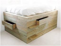 Build Platform Bed Drawers by Bedroom Platform Storage Bed With Headboard Reclaimed Rustic