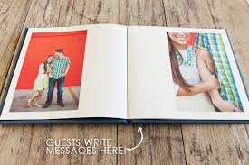 wedding guest book photo album matt s engagement guest book bend the light