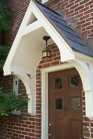 Awning Over Front Door Best 25 Front Door Awning Ideas On Pinterest Metal Awning