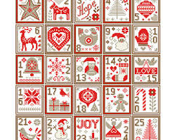 happy holidays ornaments cross stitch pattern pdf file