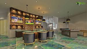 3d interior bar design in modern bunglow arch student com