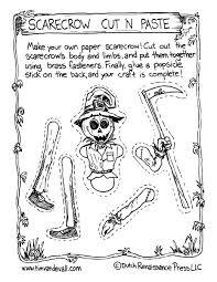 scarecrow cut and paste activity tim u0027s printables